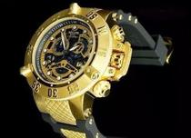 Relógio Invicta 18526 subaqua skeleton Preto E Dourado -