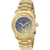 8d71ca46c37 Relógio Invicta Angel 23822 Feminino Banhado Ouro 18K Zircônia Fundo  degradê Caixa 38 mm