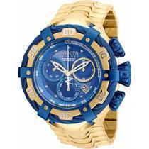 Relógio Invicta Bolt 21361 Dourado fundo Azul -