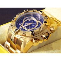 Relógio Invicta Excursion Reserve 6469 Dourado Fundo Azul - Iv