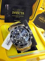 Relógio Invicta Mens 0069 Pro Diver Collection Chronograph prata preto