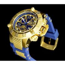 Relógio Invicta Subaqua Noma Iii 18527 Dourado Pulseira Azul - Iv