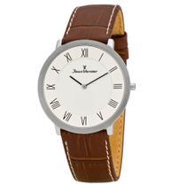 b3656db66d9 Relógio Jean Vernier Masculino Ref  Jv35676 Social Slim Prateado