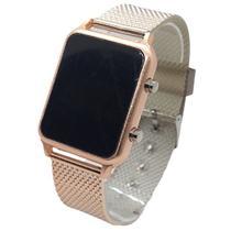 Relógio Led Digital Pulseira Silicone Rosê Moda Quente 2020 - Leisite