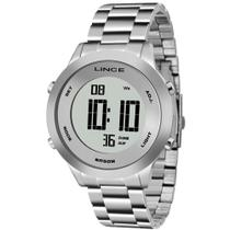 Relógio Lince Feminino Digital Prateado Aço SDPH039L SXSX -