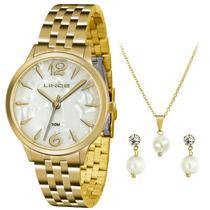 Relógio Lince Feminino Kit Lrgh047l Kt90, C/ Garantia E Nf -