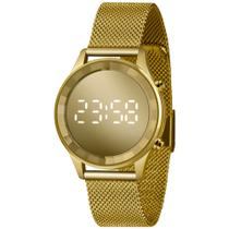 Relógio Lince Feminino LED Digital Espelhado Dourado OURO 18 LDG4648L-CXKX ORIGINAL NOTA FISCAL -