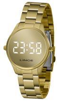 Relógio Lince Feminino LED Digital Espelhado Dourado OURO 18 MDG4617L-BXKX ORIGINAL NOTA FISCAL -