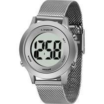 Relógio Lince Feminino Prata SDPH111LBXSX Digital 5 Atm Cristal Mineral Tamanho Médio -