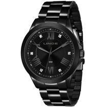 Relógio Lince Feminino Preto Analógico LRNJ046L P3PX -