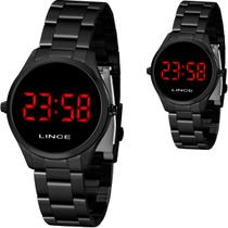 Relógio Lince Feminino Preto Led Vermelho Original MDN4618L VXPX -