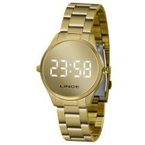 Relógio Lince Feminino Ref: Mdg4617l Bxkx Digital LED Dourado -