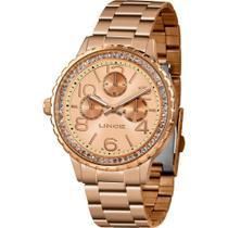 Relógio Lince Feminino Rosê LMR4624LR2RX Analógico 5 Atm Cristal Mineral Tamanho Grande -