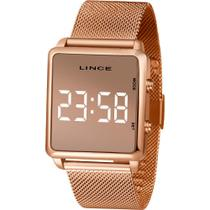 Relógio Lince Feminino Rosê MDR4619LBXRX Digital 5 Atm Cristal Mineral Tamanho Médio -