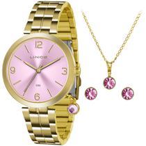 Relógio Lince Kit Feminino Lr4458l Kt70, C/ Garantia E Nf -