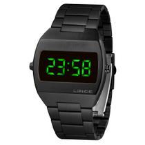 Relógio Lince LED Digital Unissex MDN4622L EXPX Preto - LED Verde NF Garantia Super Oferta -