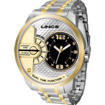 Relógio Lince Masculino Bicolor MRTH080SP2SK Analógico 5 Atm Cristal Mineral Tamanho Extra Grande -