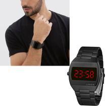 Relógio lince Masculino Preto Quadrado Led Original MDN4620L VXPX -