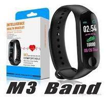 Relogio M3 Pulseira Inteligente Smartband Smartwatch Pressão Art. e Batimentos Cardíacos, Esportes - abc