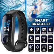 Relogio M3 Pulseira Inteligente Smartwatch Pressão Art. e Batimentos Cardíacos, Esportes - ABC
