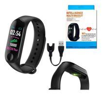 Relogio M3 Pulseira Inteligente Smartwatch Pressão Art. e Batimentos Cardíacos, Esportes - RTS