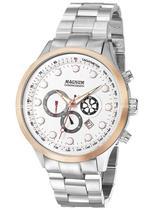 Relógio Magnum Masculino Prata E Rosé Aço Ma32569z -