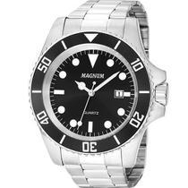 Relógio Magnum Masculino Prata Prova D'Água MA33068T -