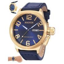 f188f7f55d1 Relógio Magnum Masculino Ref  Ma33399a Casual Dourado