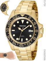Relógio Magnum Sport MA32934U Quartz Pulseira de Aço Dourado -