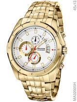 Relógio Magnum Sports MA32005H Quartz  Pulseira de Aço Dourado -
