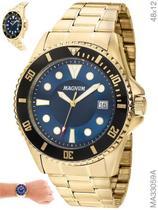 Relógio Magnum Sports MA33059A Quartz  Pulseira de Aço Dourado -