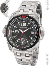Relógio Magnum Sports MA34218T Quartz  Pulseira de Aço Prata -