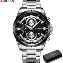 Relógio Masculino 8360 Inoxidável Cronógrafo Curren -