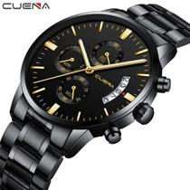 Relógio Masculino Black Motion Aço Inox Quartz Preto - Yazole