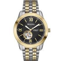 Relógio Masculino Bulova Automatic 21 Jewels WB32004P Aço Misto -