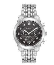 Relógio Masculino Bulova Diamond Black Dial Chronograph Watch