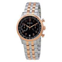 Relógio Masculino Bulova Dress WB22391P - Prata/Rosê -