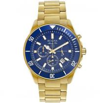 Relógio Masculino Bulova Marine Star Analógico WB31774Z Dourado -