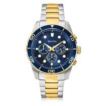 Relógio Masculino Bulova WB31989A Aço Misto -