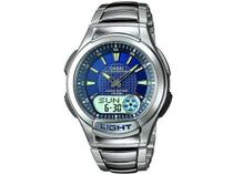 Relógio Masculino Casio Anadigi Mundial  - AQ-180WD-2AV Prata