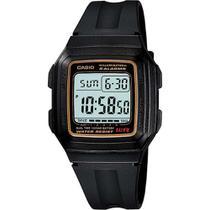 Relógio Masculino Casio Digital F-201WA-9ADF - Preto -