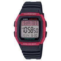 Relógio Masculino Casio Digital W-96H-4AVDF - Vermelho -