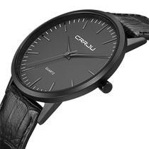 Relógio Masculino Casual Ultra Fino De Luxo Analógico Preto - CRRJU