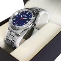 Relógio Masculino Champion Prata Analógico CA31211A Garantia de Um Ano -