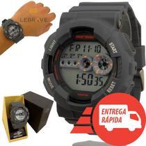 Relógio Masculino Cinza Mormaii Digital Prova Dágua - Prisma
