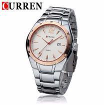 Relógio Masculino Curren 8103 Aço Casual Luxo -