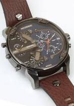 Relogio Masculino Diesel Cronograph Calendario Dz7314/0an 4 maquinas couro -