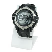 Relógio Masculino Digital Importado Prateado Possui Cronômetro Alarme Calendário À Prova D Água - Super Thunderbolt