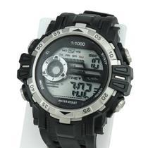 Relógio Masculino Digital Importado Silicone Alarme Calendário Cronômetro Possui Luz - Super Thunderbolt