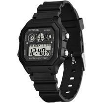 Relógio Masculino Digital Militar Preto Esporte Ultra Light - Synoke